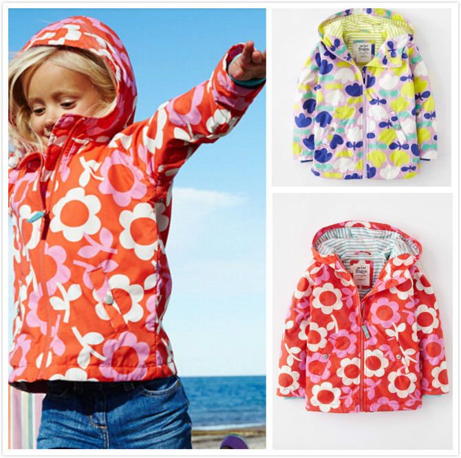 Children 39 s clothing spring and autumn for mini female child print trench outerwear jacket outdoor jacket in Jackets amp Coats from Mother amp Kids