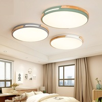 Nordic macarons led ceiling lamp wood art mosaic simple modern creative hollow personality lighting for bedroom kitchen aisle