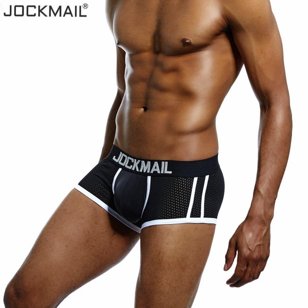 Men's Underwear The Best Jockmail Sexy Men Underwear Boxer Men Back Open Hole Men Boxer Underpants Cotton Trunks Boxer Shorts Male Panties Gay Underwear Boxers