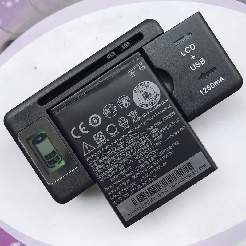 Аккумулятор BOPA2100 / B0PA2100 на 2000 мА · ч для сотового телефона HTC Desire 310 310 Вт с настольным зарядным устройством и ЖК-дисплеем