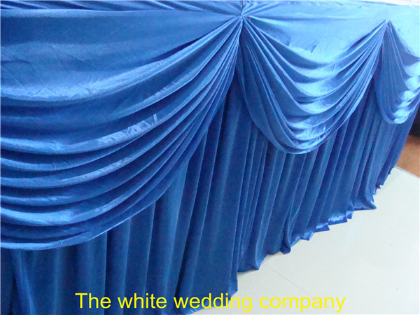 5pcs 16ft x 29 tablecloth table skirt for banquet wedding