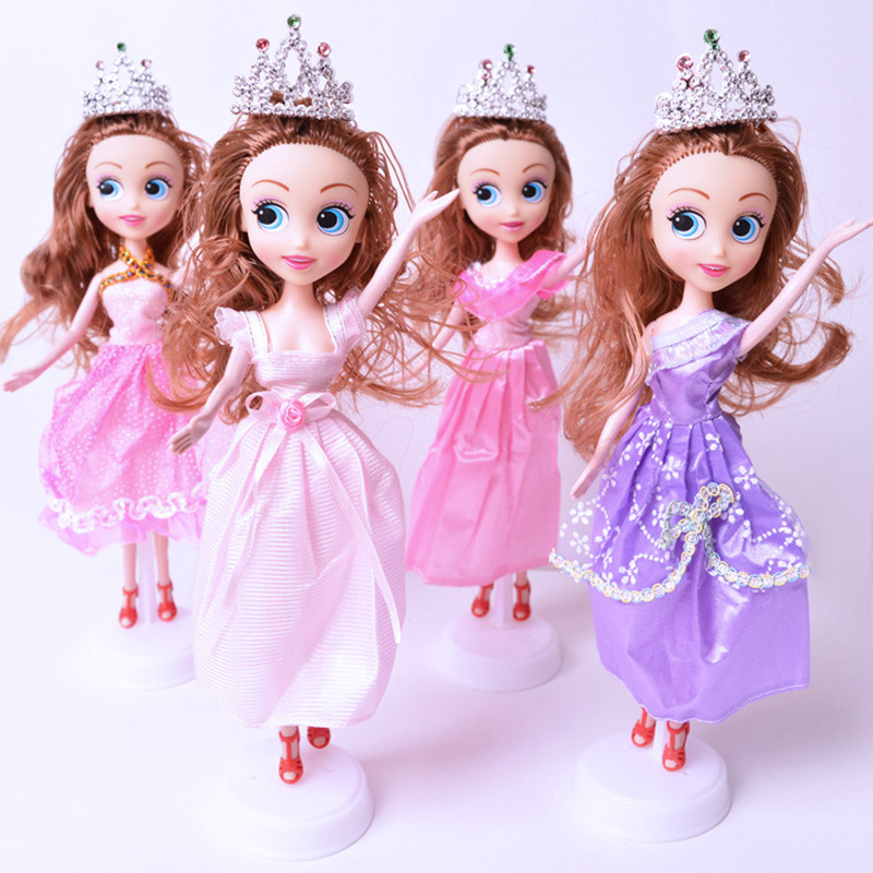 Girls Toys Princess Dolls Toy 28cm Cute Dolls Baby Girls Dolls Snow And Ice Big Eyes Dolls Wedding Princess Children Girl Toys best girl toys 2017