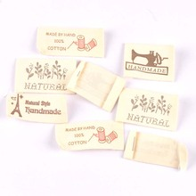 Woven-Labels Fabric-Tags Care Shoes Garment Sewing-Accessories Cotton 50pcs Bags