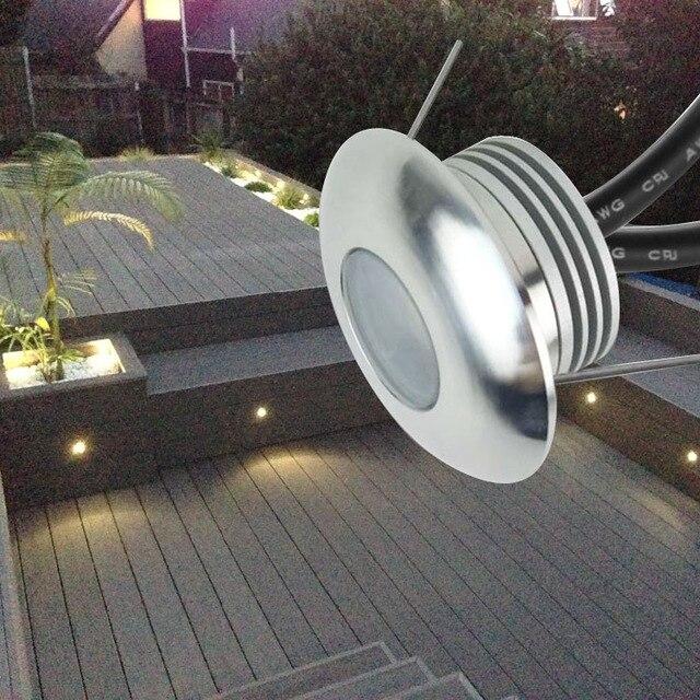 12 шт./лот Водонепроницаемый IP65 светодиодный Палуба Шаг свет Встраиваемые лестничные лампа paitio в местах прожектор сад лампы/настенный молни...