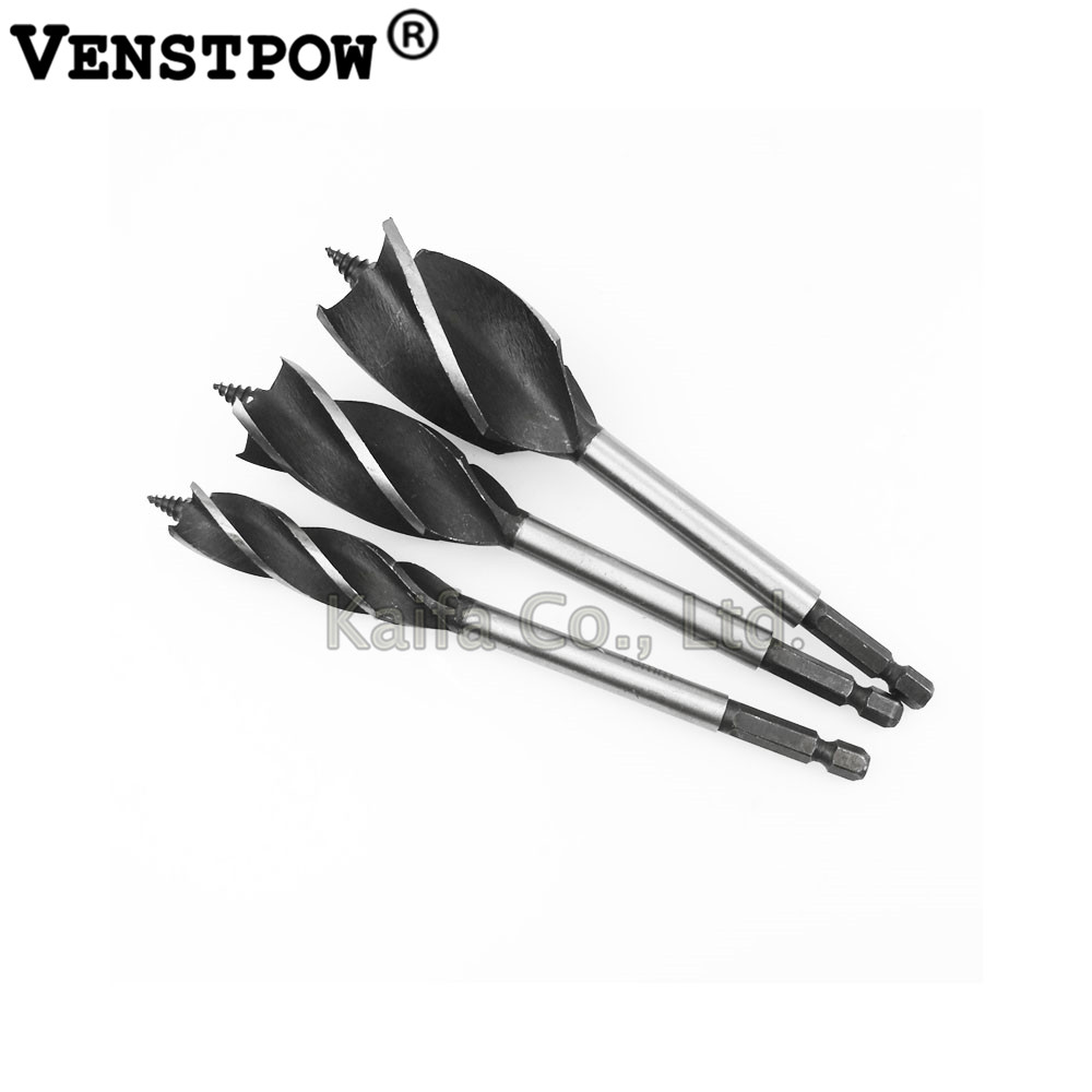 1 PCS 10-35mm Durable 4 Cutters Twist Drill Bit Set Fast Cut Auger Carpenter Tool for Woodworking hilda 8pcs set 4 cutters 10 25mm center drill bit for wood cut suit for woodworking and lock reapair set