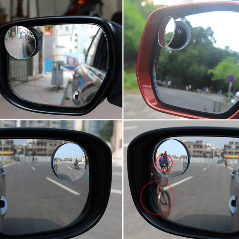 Free Post Car Blind Spot Mirror Waterproof Frameless Rotatable Convex Side Mirror New For Car Truck Motorcycle Rearview Mirror