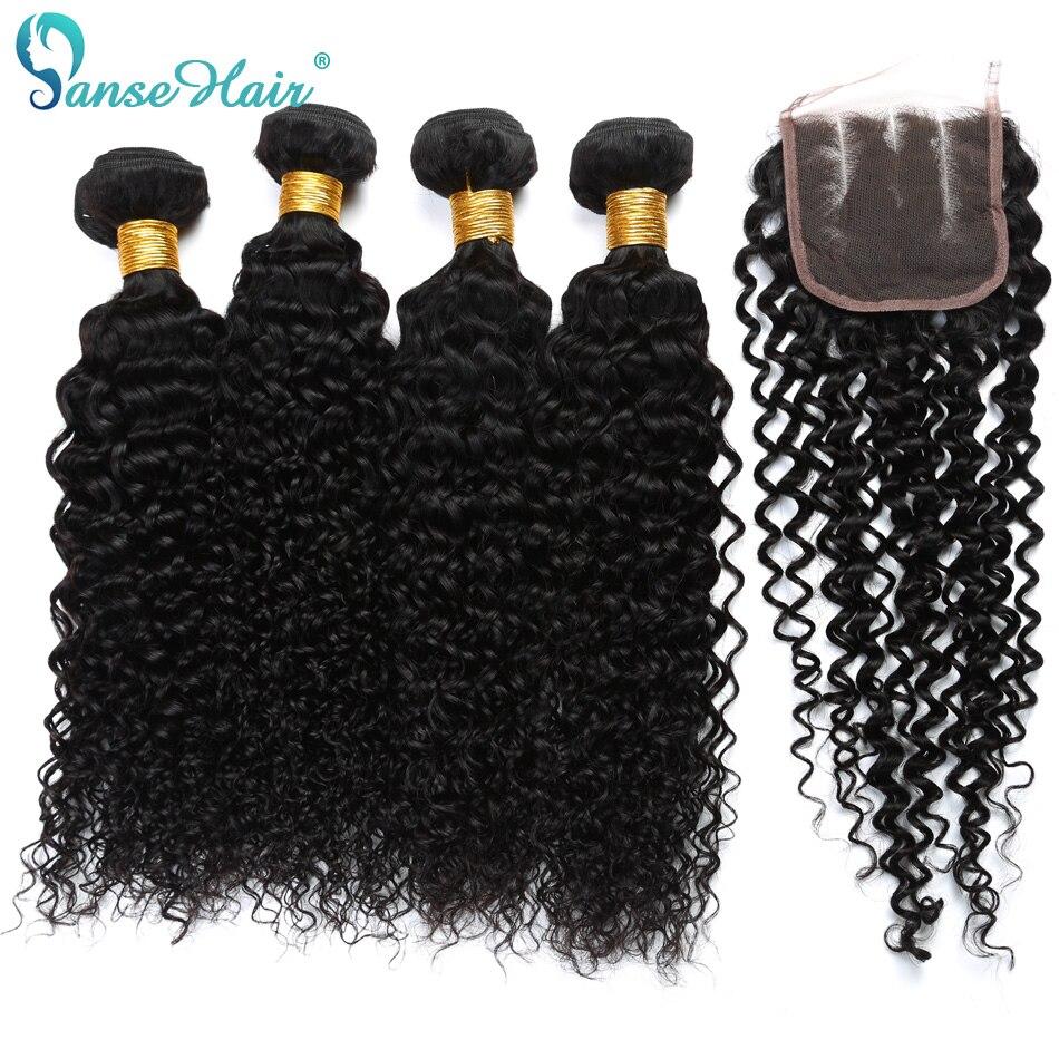 Brasiilia Virgin Hair Kinky Curly Hair Weaving 3 kimbud kootud 1 PC - Inimeste juuksed (must) - Foto 4
