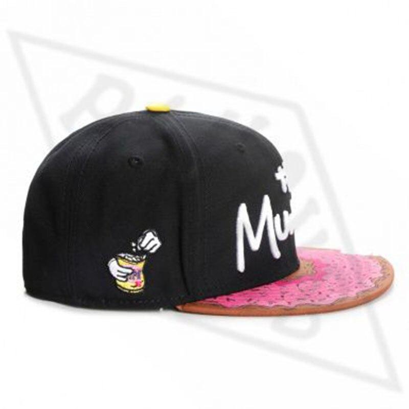 Berretto da baseball MUNCHIES di marca heartkb snack cappello snapback rosa uomo donna adulto hip hop copricapo berretto da baseball da sole casual all'aperto gorras bone 2