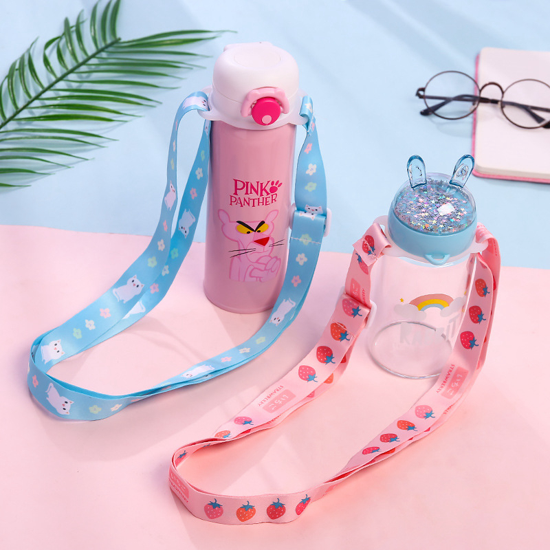 Woman Thermos Mug Lanyard Back Belt Travel Accessorie Luggage Shoulder Strap Portable Baby Bottle Water Water Buckle Organizer