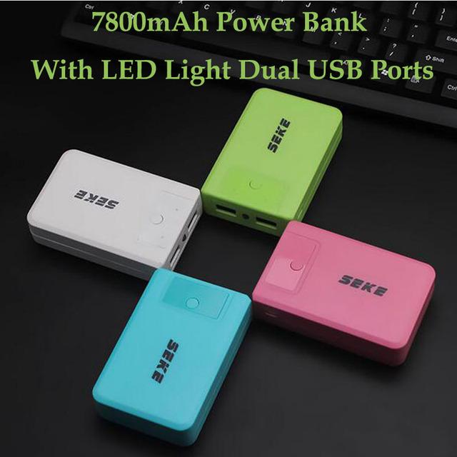 Tecnología externa 7800 mah banco de potencia para iphone 5/5s/6/6 kailiya s/samsung/xiaomi/huawei/htc/lg/tablet móvil batería cargador