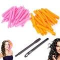 40 unids rizador de pelo 100% nuevo orange rosa bigudíes de pelo grueso base diy rizador herramientas de peinado rizos hermosos caliente