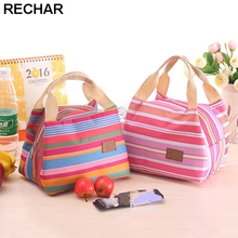 Portable Lunch Bag 2017 New Stripe Cooler Bag Thermal Insulation Bags Travel Picnic Food Lunch box