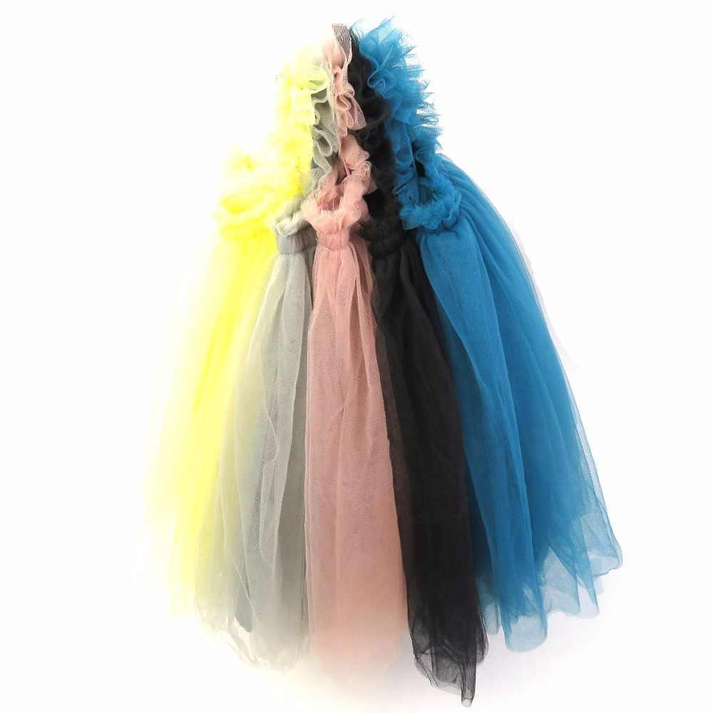Детское платье Коллекция 2018 года, бальные платья на бретельках для маленьких девочек Сетчатое платье-пачка без рукавов Летнее праздничное платье для девочек Vestidos, RT034