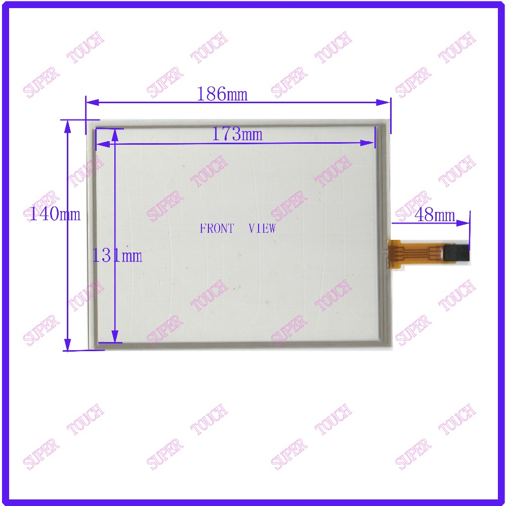 NEW 8 Inch Touch Screen 186*140 for G084SN05 /02/03 for industry applications 186mm*140mm 4 lins