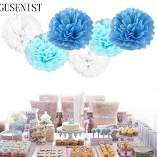 pompon 10cm Tissue Paper Pom Poms Flower Balls for wedding room Decoration Party Supplies diy craft paper flower(China)