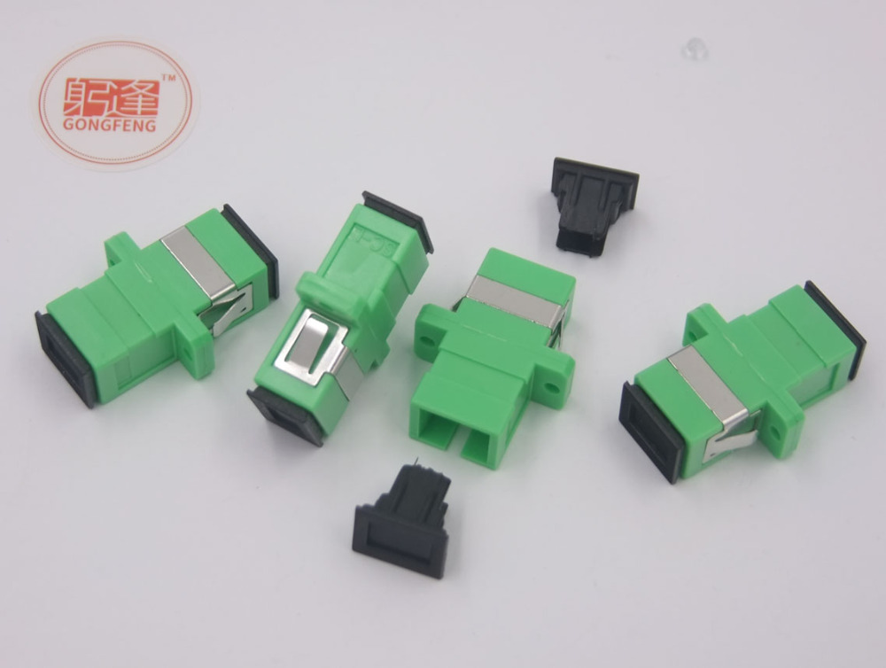 500pcs NEW Hot GONGFENG Split Telecom Grade SC APC Optical Fiber Connector Adapter Coupler Flange Special