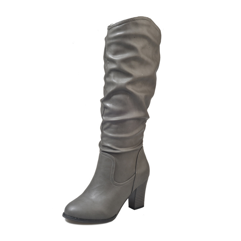 2018 automne et d'hiver nouvelles bottes Europe et en Amérique de grande taille haute talon mince sauvage de mode de femmes bottes vert ljj 1031