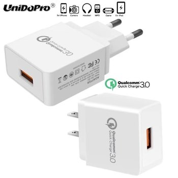 Quick Charge QC 3.0 US  EU Plug AC Charger for GPD Pocket 7in Mini Laptop for GPD WIN 5.5in Game Console Fast Charging Adapter digital clock