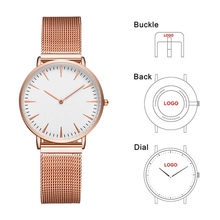 CL033 36mm Small Wrist OEM Logo Women's Watches Rose Gold Lady Watch Establish Own Brand Woman Watch(China)