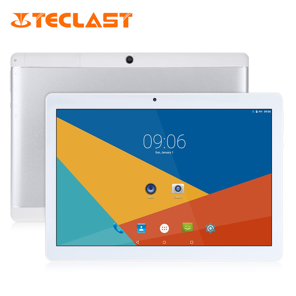 Original Teclast X10 Quad Core 3G Phablet MT6580 Android 6.0 IPS 1280x800 Screen 1GB RAM 16GB ROM 10.1 inch OTG FM GPS Tablet PC koslam 7 inch 3g android tablet pc tab pad ips 1280x800 screen mtk quad core 1gb ram 8gb rom dual sim card 7 mobile phablet