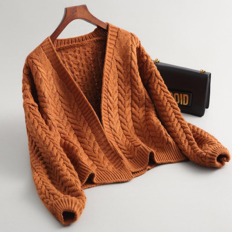 Nouveau automne tricot pull femmes épais mode lâche chaud Cardigan femmes décontracté à manches longues hiver manteau