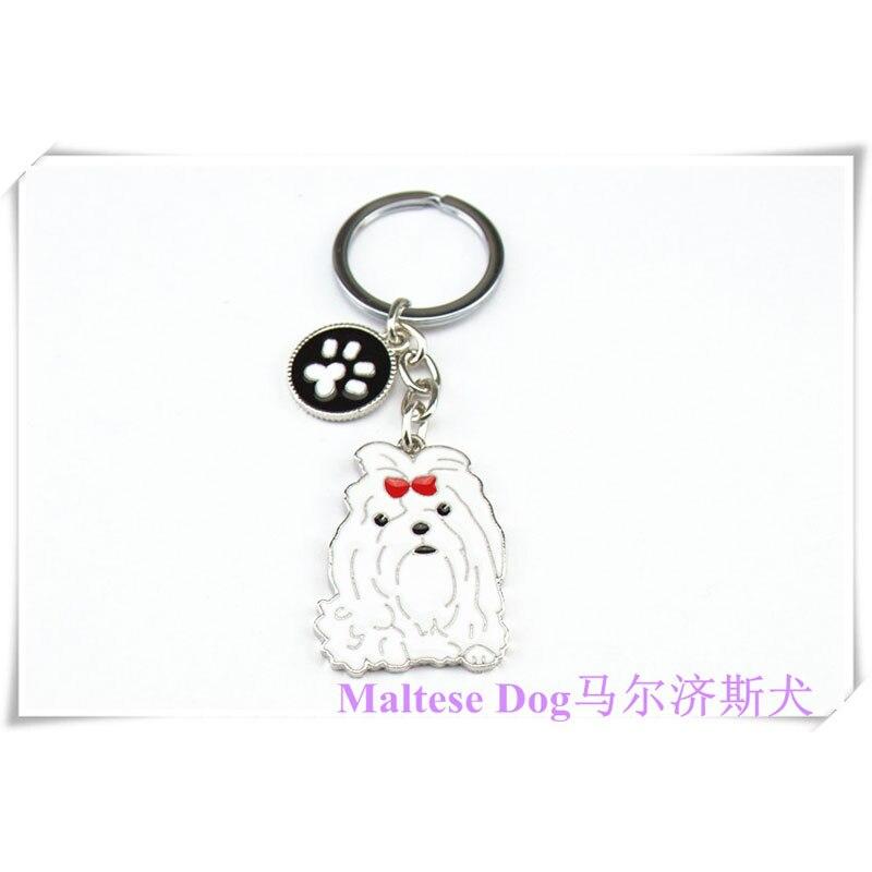 DIY Maltese Dog Pet Key Chain Car Key Ring Gift For Best Friend Metal - Fashion Jewelry - Photo 6