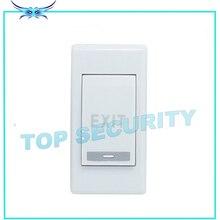 Бесплатная доставка дешевые двери толчок выхода двери контроля доступа спуска выход переключатель дверь кнопка открытия E19B кнопка
