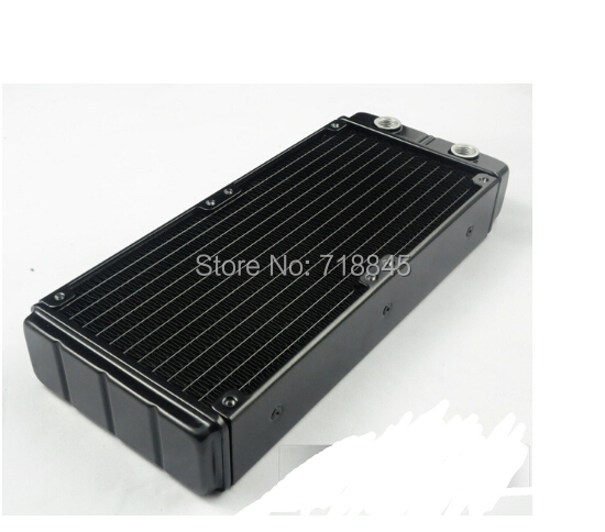 Computer water cooling radiator 240p double heat exchanger discharge aluminum can set 2 fans exhaust  cooled exhaust computer 240mm water cooling radiator g1 4 18 tubes aluminum computer water cooling heat sink for cpu led heatsink heat exchanger