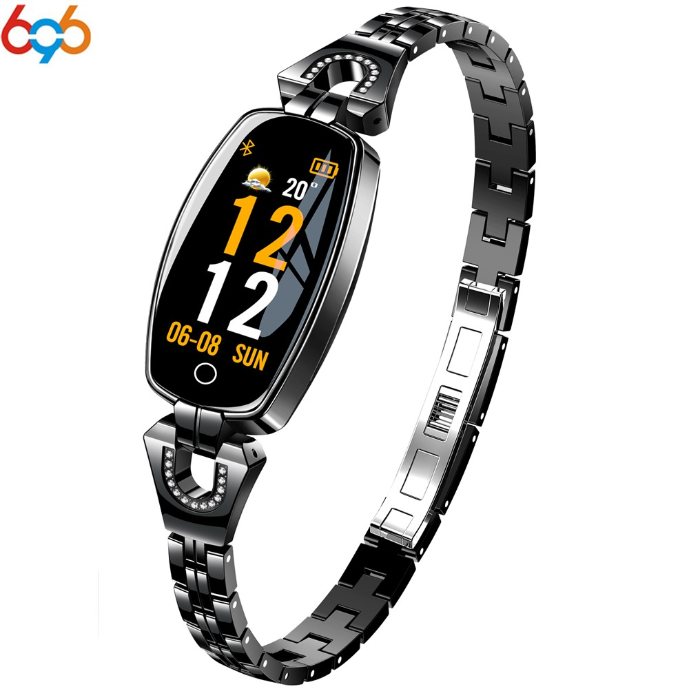 696 H8 HR montre intelligente femmes dame dames montre intelligente fille Bracelet Bracelet femme bijou montres horloge mode porter pour xiaomi