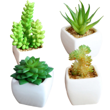 4 Pieces/Set Simulation Succulent Potted Plants Bonsai for Home Office Garden Decoration Artificial Miniature Flowers Hot Sale