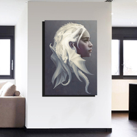 Canvas Art Game of Thrones Dragon Mother Movie Poster Drawing Art Wall Decor Wall Stickers