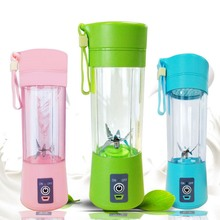 Portable Juice Blender USB Six Blade Juicer Multi-Function Fruit Blender Mixing Machine Smoothies Baby Food 400ml Capacity a1100 home use multi functional blender for juice smoothies with timer lcd panel
