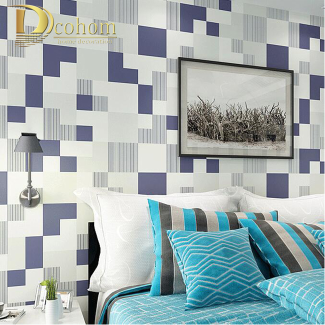 Modern Minimalist Style Non-Woven Wallpaper Geometric Pattern Designs Embossed Household Decoration Wallpaper Roll R551