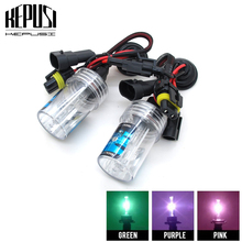2pcs Purple Pink Green Deep Blue 9006 HB4 HID Xenon 35W Bulbs Replacement 4300K 6000K 8000K 12V Car Driving Headlight Bulb Fog цены