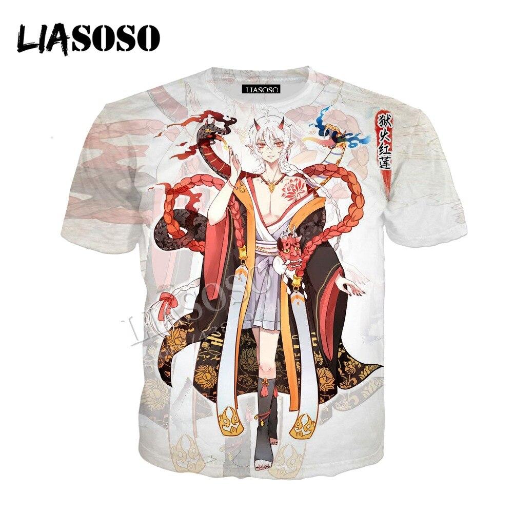 LIASOSO latest 3D printed polyester zipper hoodie Chinese anime game beautiful kimono style Onmyoji men women sportswear CX346