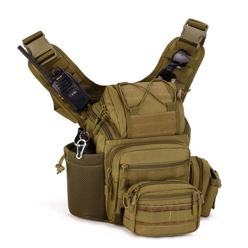 Protecteur Plus 2018 nouveaux hommes croix corps Pack sac hommes sangle unique fronde une épaule Messenger sacs caméra tactique équipement gratuit