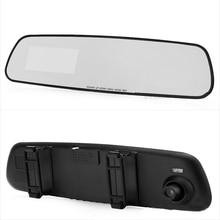 Мультимедийный плеер двойной линзы 1080 P HD Автомобильный видеорегистратор детектор 3.2 дюймов Камера Зеркало заднего вида автомобиля путешествие данных видео Регистраторы