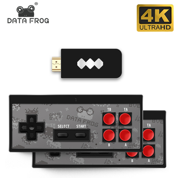 Data Frog USB Wireless Handheld TV Video Game Console Build In 620  Classic 8 Bit Game mini Console Dual Gamepad AV Output 1