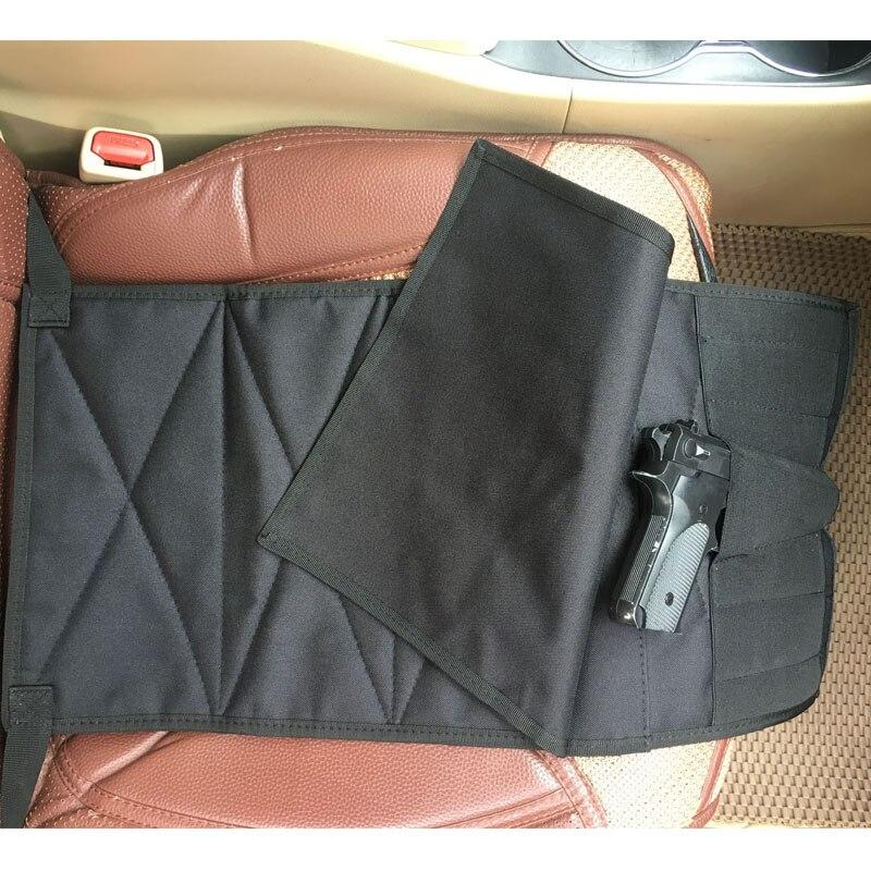Funda de pistola de ocultamiento debajo del asiento con bolsa de repuesto para pistolas medianas grandes ajustables para la mayoría de los camiones de coches Vans US STOCK