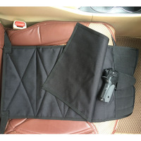 Under Seat Concealment Pistol Holster With Spare Pouch For Medium Large Handguns Adjustable For Most Cars