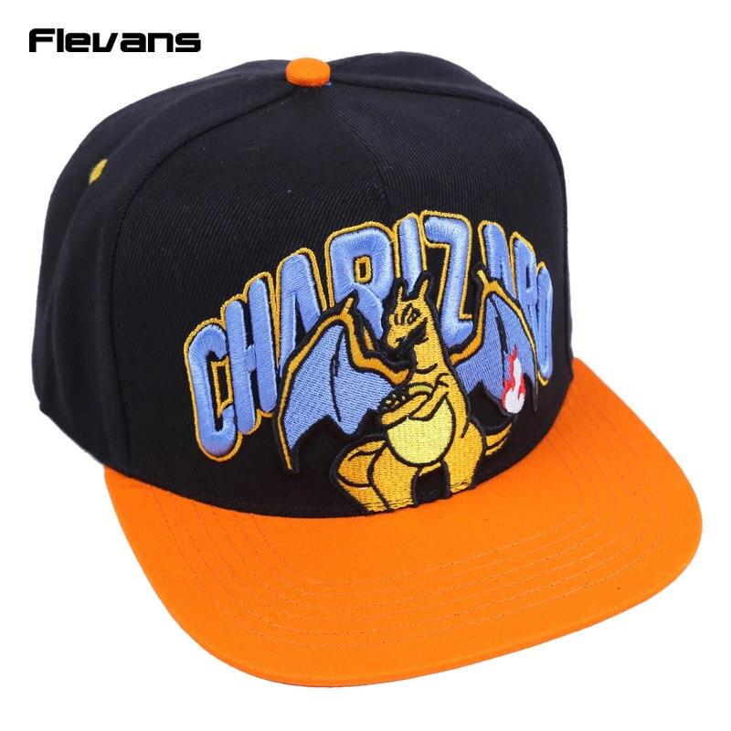 Prix pour Chapeau de bande dessinée miaouss dracaufeu bulbizarre casquette de baseball hommes femmes snapback de mode chapeau de soleil