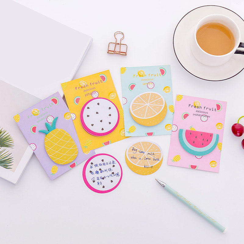 Cute Fruit N Times Memo Pad Self Adhesive Food Post Sticky Notes Bookmark Stationery Sticker School Supplies in Memo Pads from Office School Supplies
