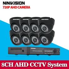 NINIVISION 8Channel 1080*960 HD 1080N CCTV DVR System 8pcs 1.0MP indoor Dome IR Cameras DVR Kit System HDMI 1080P usb 3g wifi