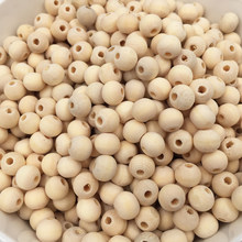 15-100PCs Natural Ball Wood Spacer Beads 6-20mm For Charm Bracelet Wholesale baby toy wooden bead(China)
