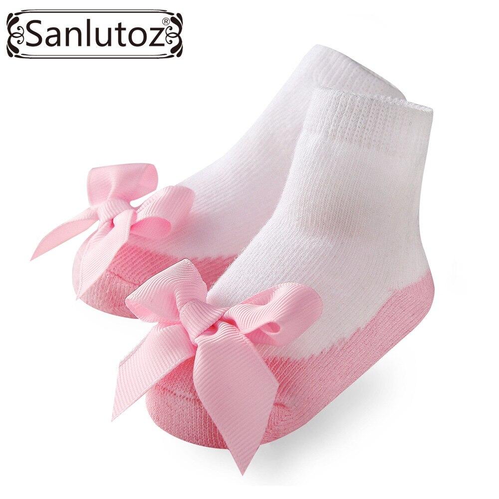 Sanlutoz/носки для младенцев, носки для девочек, носки для новорожденных, носки для принцессы, подарки на день рождения, модные носки для маленьк...