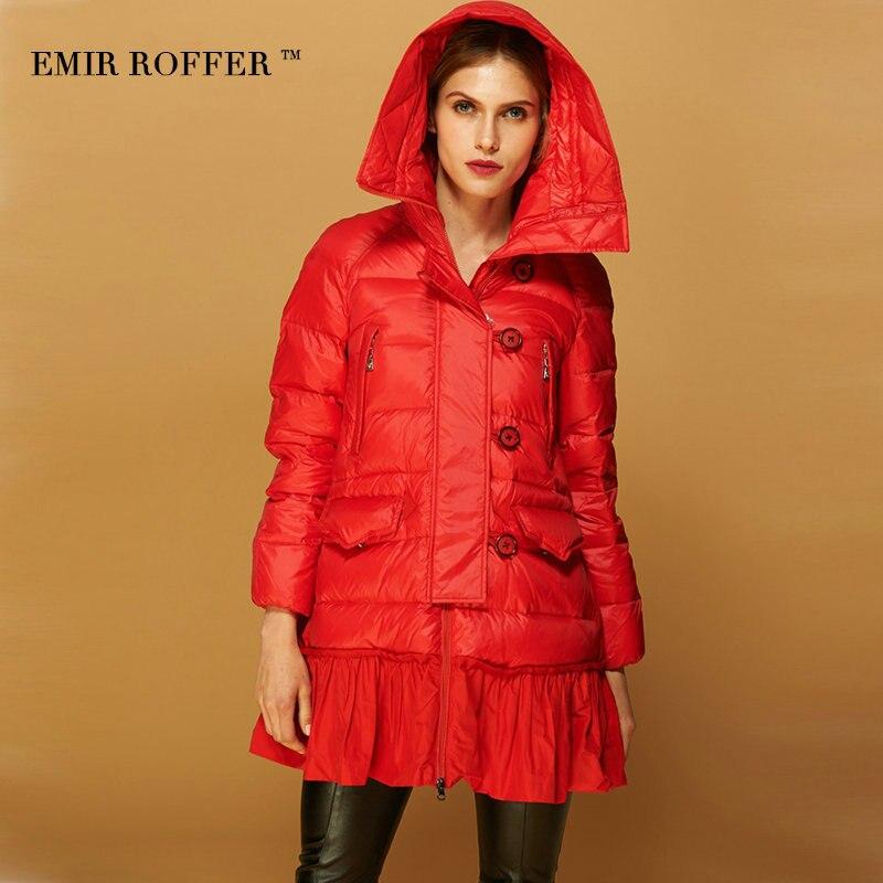 di Emir donna Layered Roffer con linea gonna Una Fashion Allentato cappuccio wnUPFqp