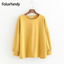 купить Striped Drop-shoulder Hoodies Women Long Sleeve Sweatshirts Plus Size 5XL 4 Colors KKFY2718 по цене 1325.58 рублей