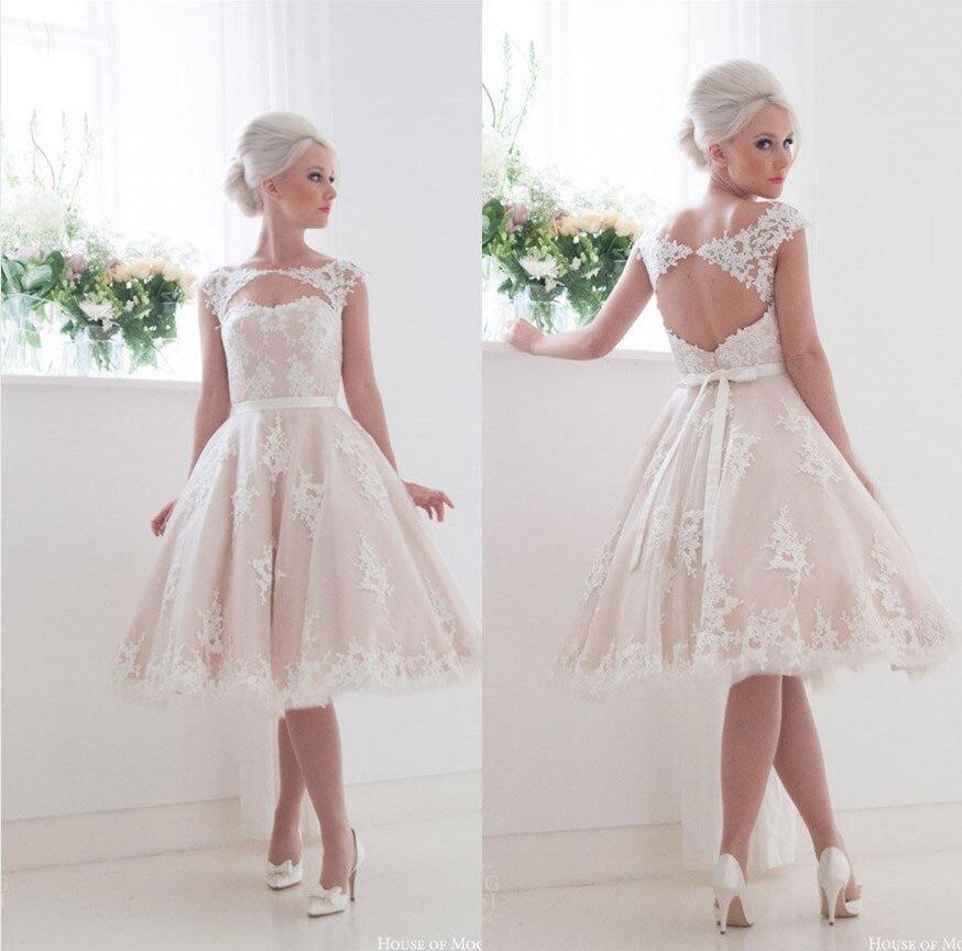 Lace Wedding Dress Cape Sleeved Short