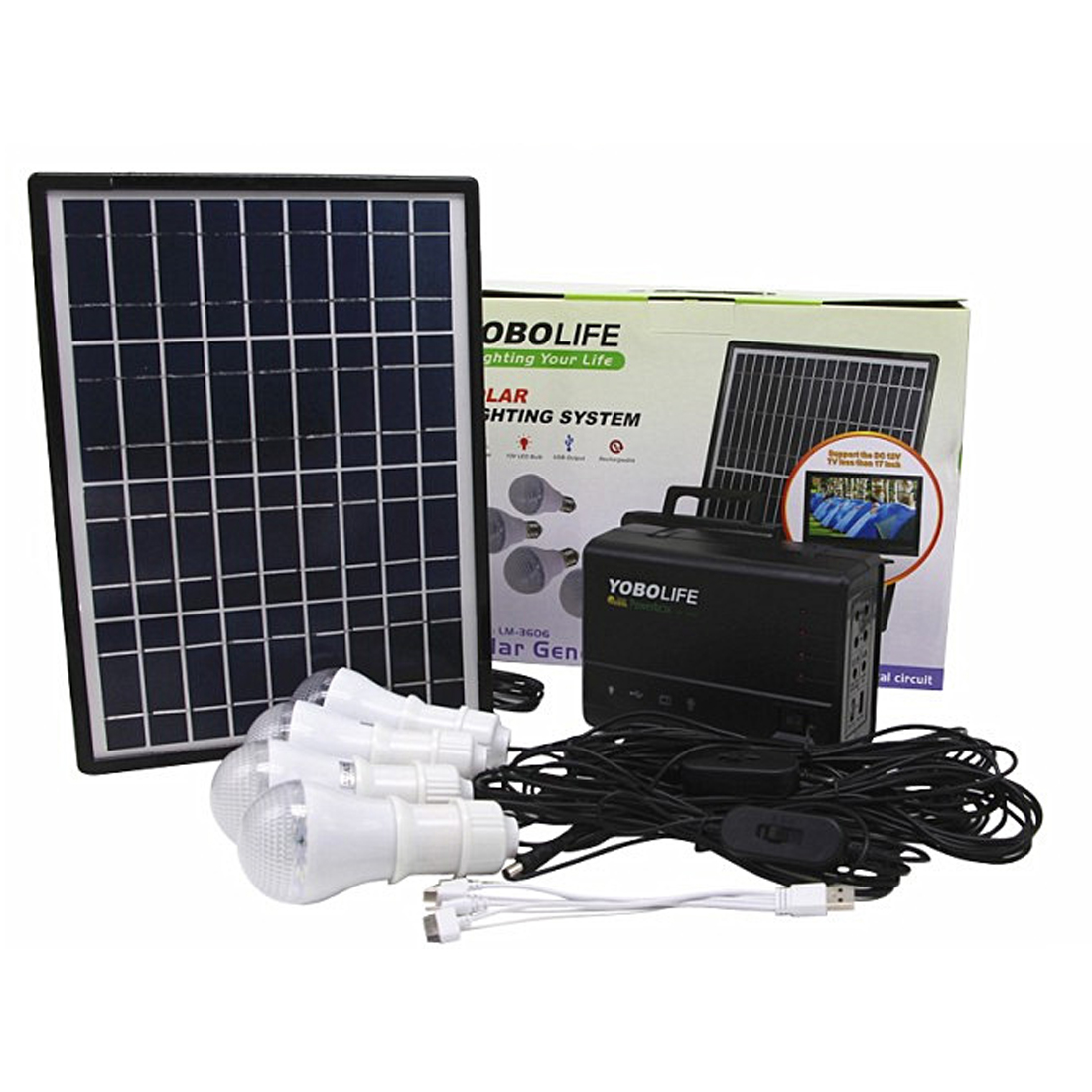 SOPATiO 12V Solar Power Panel Generator Energy Kit Portable Outdoor Solar Energy Power Bank Battery Chargers Lighting System new chargers bracelet silicone wrist battery band power bank portable usb battery bank chargers for iphone4 6 7 psp samsung htc
