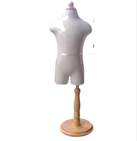 1-2 years baby half torso Child realistic 1pc Mannequins display with Circular wood base fabric flexible dresses cloth,M00088A